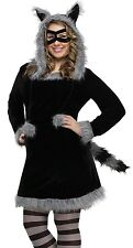 Racy Raccoon Costume Dress Hoodie Adult Sexy Furry Racoon - Plus Size 16-20 XL