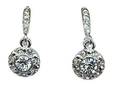 Avon Illiana Luxury Leverback Earrings Round Cut NEW Jewelry Gift Sparkle