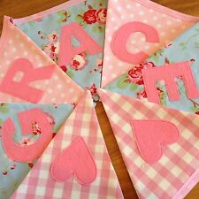 Girls Personalised Fabric Bunting/Banner Cath Kidston Ikea Rosali Blue