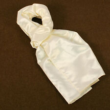 White Pilots Flying Scarf Silk Cloth Style Vintage Military Style Scarf WD094