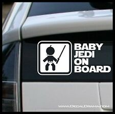 Baby JEDI on BOARD - Jedi Padawan with Lightsaber Graphic, Star Wars-Inspired