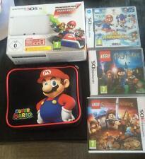 CONSOLE NINTENDO 3DS XL + JEUX  - BLANCHE - COMME NEUVE - LIVRAISON GRATUITE