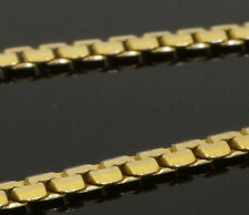 "Oro Amarillo de 14 quilates y 18"" C 2mm Enlace Collar Cadena De Eslabones"