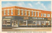 c1930 Kneider's China and Sportswear Shop, Dunnville, Ontario, Canada Postcard