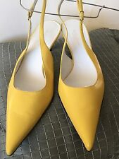 DOLCE & GABBANA Italy, Yellow Soft Leather,Slingback SHOES, size 38 /US 7.5/