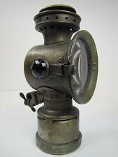 Antique Neverout Bicycle Lamp Rose Mfg Phila green 2 red jewels motorcycle bike