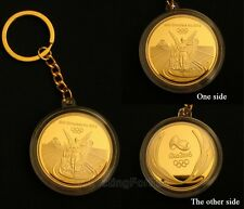 Rare Rio 2016 Olympic Gold Medal Keychain