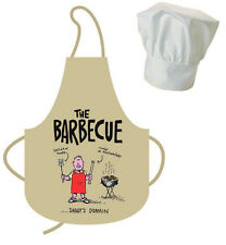 Il barbeque BBQ Adulto Cotone Grembiule & CHEF HAT Set DAD'S dominio COTTURA DAD