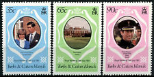 Turks & Caicos Is. 1981 SG#653-5 Royal Wedding MNH P14 Set #R415