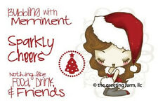 A CHEEKY XMAS-The Greeting Farm Cling Rubber Stamp-Stamping Craft-Christmas