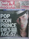 PRINCE - DAILY RECORD NEWSPAPER - 22ND APRIL 2016