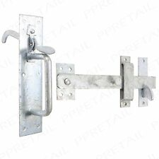 Long Thumb Piece Suffolk Latch THICK Galvanised Gate Catch Handle Shed Door Zinc
