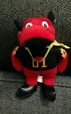 Sparky the Dragon Plush New York Sports Mascot Red Fire Black Yellow