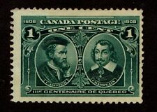 Canada Sc #97 1 cent - Blue Green - Fine - Mint Hinged 1908