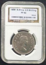 South Africa 1956 Half Crown 2.5S Shilling Proof PF63 - Low Mintage SANGS