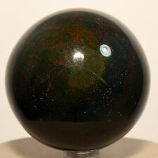 "2.4"" Bloodstone Sphere Natural Colorful Crystal Heliotrope Mineral Stone - India"
