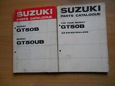 Parti Catalogo Pezzo di ricambio Suzuki GT 50 B / UB + Supplemento