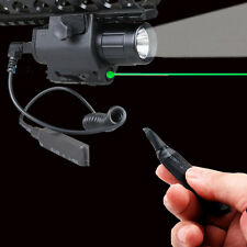 Tactical Cree Flashlight Green Laser Sight Combo Fit For Pistol Glock