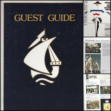 GUEST GUIDE 1984 SHOPPING RESTAURANTS QUARTIER PAR QUARTIER PUBLICITES...