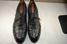 MENS SHOES GENUINE OSTRICH FULL QUILL CUSTOM HAND MADE 13 D WORN VERY LITTL