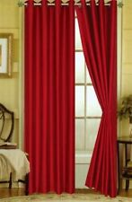 2 PANELS SOLID BRIGTH RED THERMAL LINED BLACKOUT GROMMET WINDOW CURTAIN #64