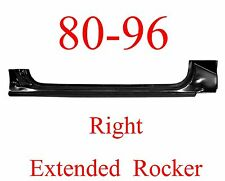 80 96 RIGHT Ford Extended Rocker Panel Truck & Bronco F150, F250, F350, OEM Type
