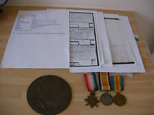 WW1 death plaque with WW1 medals