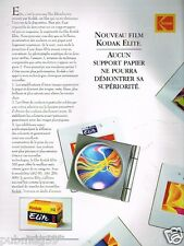 Publicité advertising 1993 Photo Film Kodak Elite