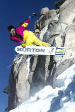 "3.25"" Vintage style 1980's BURTON AIR SNOWBOARD AD STICKER / DECAL. Craig Kelly"