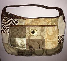 COACH Purse Ergo LARGE Patchwork Turnlock Hobo 10809 Shoulder Bag $428