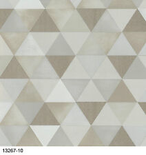 New Graphics Alive Geometric Cream & Beige Wallpaper 13267-10