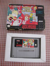 SNES KRUSTY'S SUPER FUN HOUSE PAL ESPAÑA CARTUCHO + CAJA SUPER NINTENDO AKLAIM