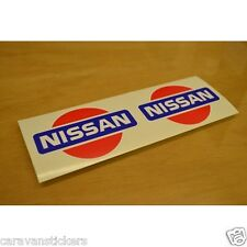 Classic Nissan Logo Badge Sticker Decal Graphic (Circle) - PAIR