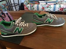 NEW BALANCE 574 ML574SJG CLASSIC GREY GREEN WHITE MENS SNEAKER SHOES SIZE 10