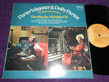 "PORTER WAGONER &DOLLY PARTON  ""BURNING THE MIDNIGHT OIL""1972 UK LP RCA  LSA 3134"