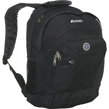 Everest Deluxe Double Compartment Backpack - Black Laptop Backpack NEW