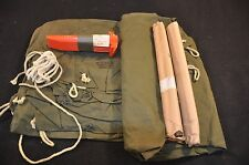 Unissued New USGI Pup Tent 2 Shelter Halves, 10 Stakes, 6 Pole Sections, 2 Ropes