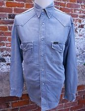 Classic Mens Wrangler Long Sleeved Denim Shirt SMALL    (IP4)