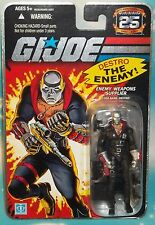 G I GI JOE 25TH ANNIVERSARY COBRA WEAPONS SUPPLIER DESTRO FIGURE MOC