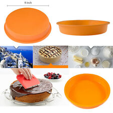 "Round 9"" Silicone Baking MOLD Brownie Cake Decorating Bakeware Bread/Dessert Pan"