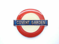 SALE VINTAGE COVENT GARDEN LONDON TUBE STATION SIGN TRAIN RAILWAY PIN BADGE 99p