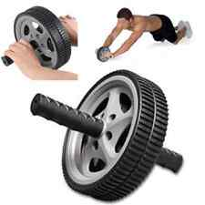 Dual ABS Wheel Abdominal Roller Workout Exercise Arm Waist Fitness Exerciser New