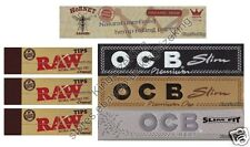KING SIZE OCB BLACK, SILVER + GOLD ROLLING PAPERS + HORNET HEMP + RAW TIPS