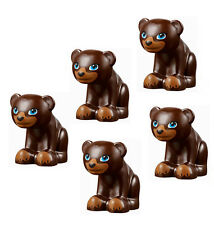 LEGO NEW 5 pcs DARK BROWN BEAR CUB Baby Zoo Toy Animal Minifigure Figure Minifig