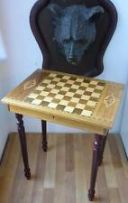 Italian Inlaid Chess Table with Music Box