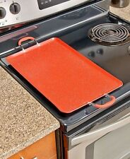 Red Nonstick Double Burners Griddle Breakfast Stove Top Cooker Kitchen Meals