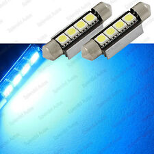 Ultra Blue 4-SMD Error Free 578 211-2 6411 LED Dome Light (2 Pieces)