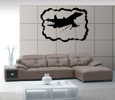 Airplane Airforce Jet  Aviation Air Mural  Wall Art Decor Vinyl Sticker z553