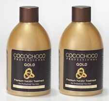 COCOCHOCO GOLD BRAZILIAN KERATIN TREATMENT BLOW DRY HAIR STRAIGHTENING 250ML X 2