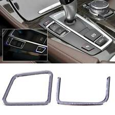 2pcs AT Gear Shift Left Buttons Cover Trim fit for BMW 5 Series F18 F10 2011-15